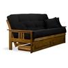 orlando wood futon frame and mattress set heritage finish nf olnd mb