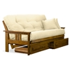 ... Orlando Wood Futon Frame and Mattress Set - Heritage Finish -  NF-OLND-MB ...
