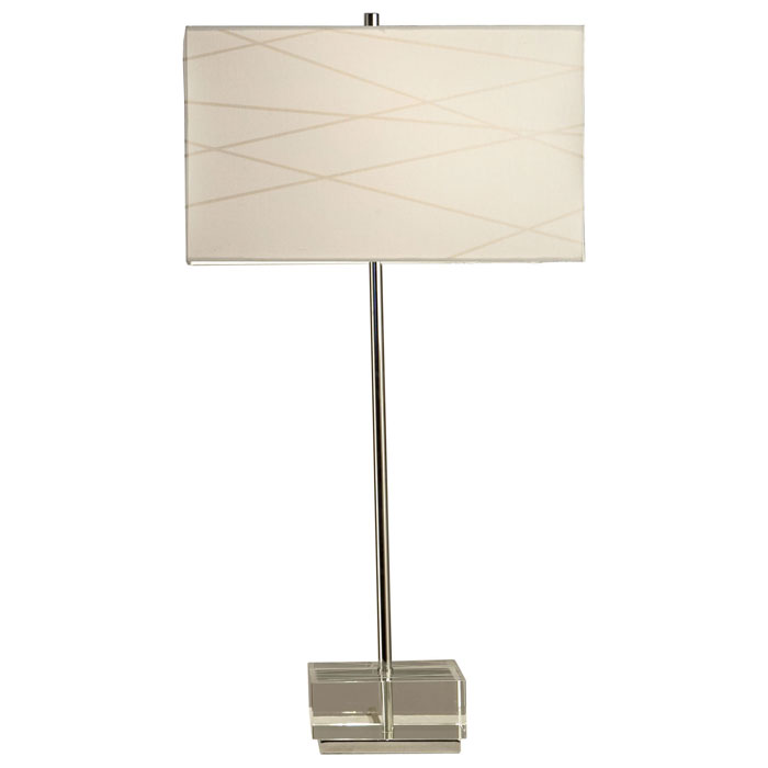 Criss Cross Table Lamp with Clear Base - NL-11153