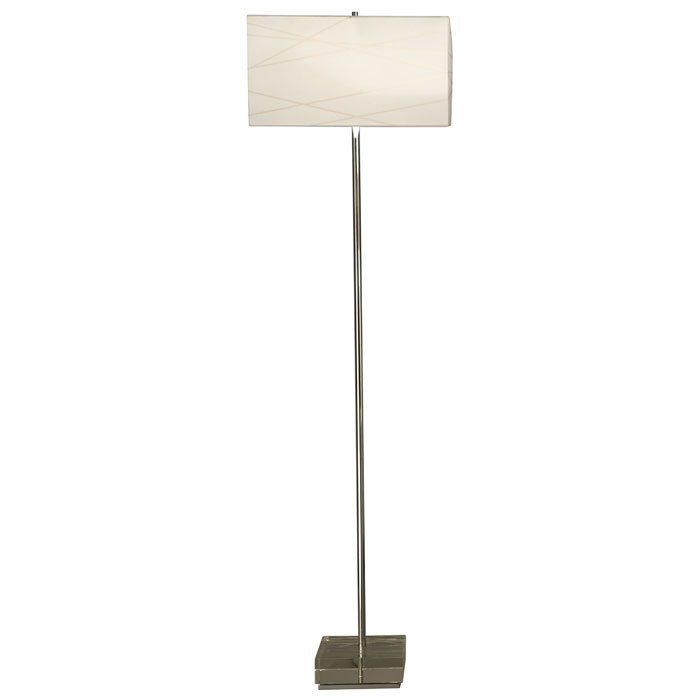 Criss Cross Floor Lamp with Clear Base - NL-11155