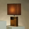 Hepburn Table Lamp in Bronze and Brown - NL-11379