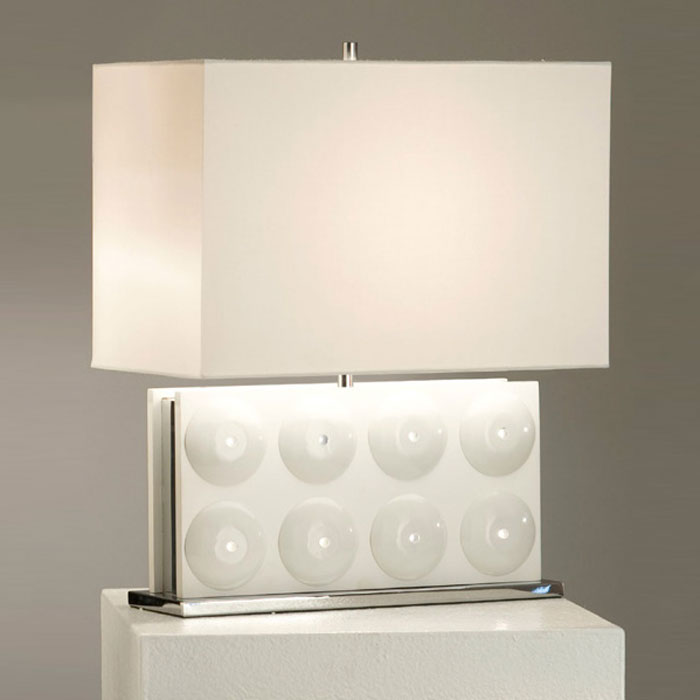 Trudy Reclining Table Lamp in White - NL-11782