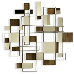 Angles Wall Art with Mirror Accents