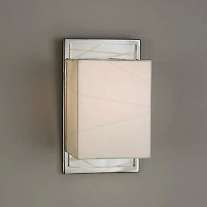 Criss Cross Sconce in White