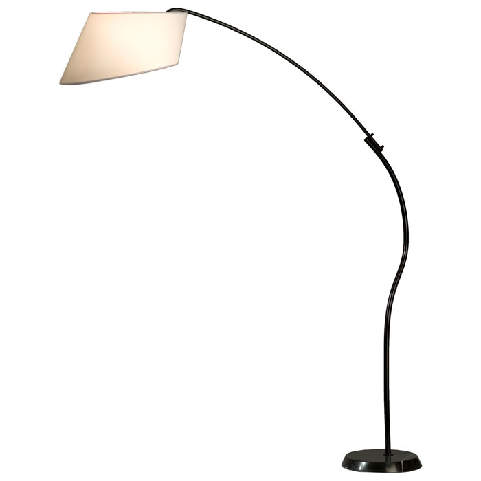 Ibis Arc Floor Lamp in White - NL-12017