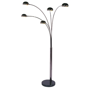 Mushroom 5-Light Arc Lamp in Black