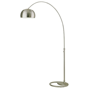 Cleo Light Arc with Dome Shade Floor Lamp