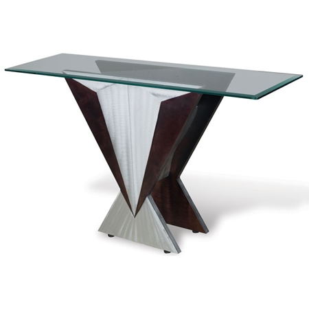 Wedge console table dcg stores for Sectional sofa with table wedge