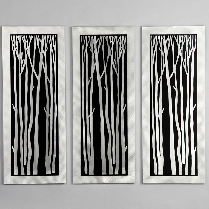 Silver Birch 3-Piece Wall Graphic - NL-WG40502