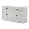 White buffet table furniture - Halifax Classic Buffet Table Pure White Nsolo B127