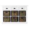 Halifax Buffet with 6 Baskets - Pure White - NSOLO-B128