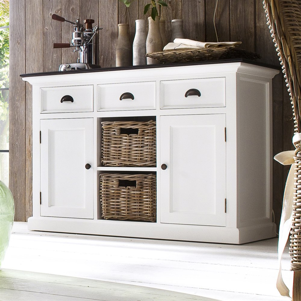 Halifax Contrast Buffet Table 2 Baskets Pure White