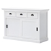 Halifax Buffet with Sliding Doors - Pure White - NSOLO-B130