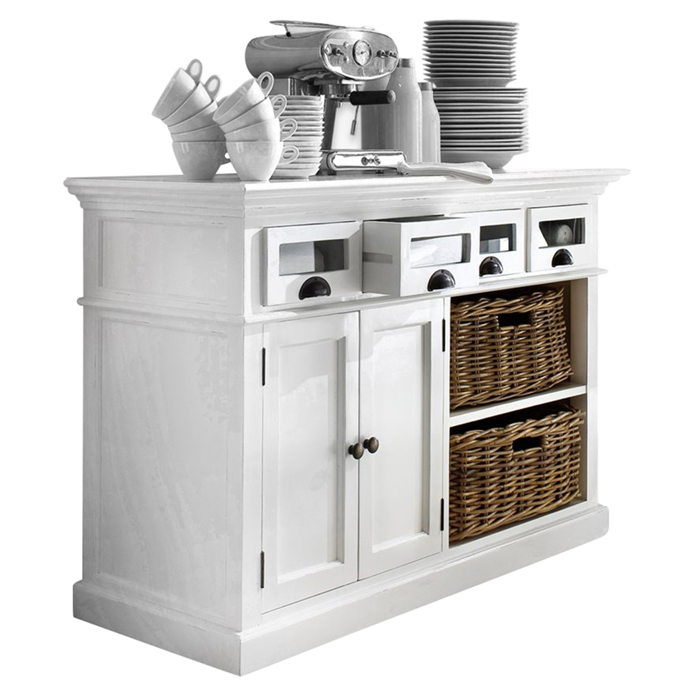 Halifax Kitchen Buffet Table - Pure White | DCG Stores