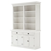 Halifax Hutch Bookcase Unit - Pure White - NSOLO-BCA599
