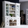 Halifax Library Hutch with Basket Set - Pure White - NSOLO-BCA600