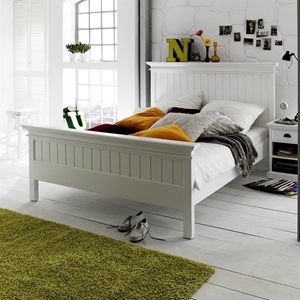 Halifax Queen Bed - Pure White
