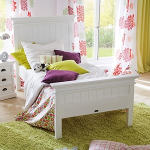 Halifax Twin Bed - Pure White
