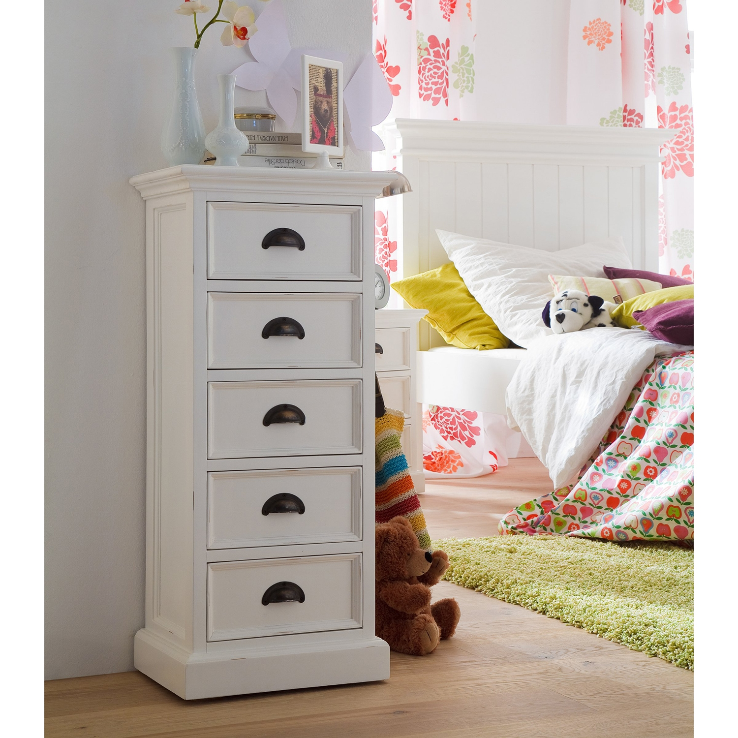 Halifax 5 Drawers Storage Unit - Pure White - NSOLO-CA600