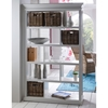 Halifax Room Divider with Basket Set - Pure White - NSOLO-CA603