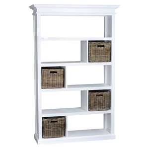 Halifax Room Divider with Basket Set - Pure White