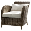 Wickerworks Knight Chair with Cushions - Natural Gray - NSOLO-CR36