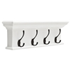 Halifax 4-Hook Coat Rack - Pure White