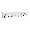 Halifax 8-Hook Coat Rack - Pure White