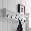 Halifax 6-Hook Coat Rack - Pure White - NSOLO-D162