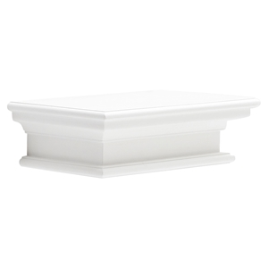 Halifax Floating Short Wall Shelf - Pure White