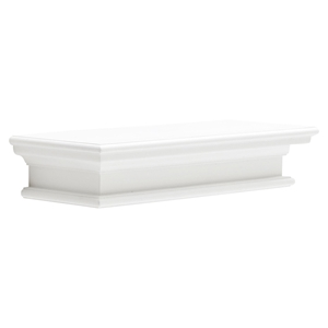 Halifax Floating Medium Wall Shelf - Pure White