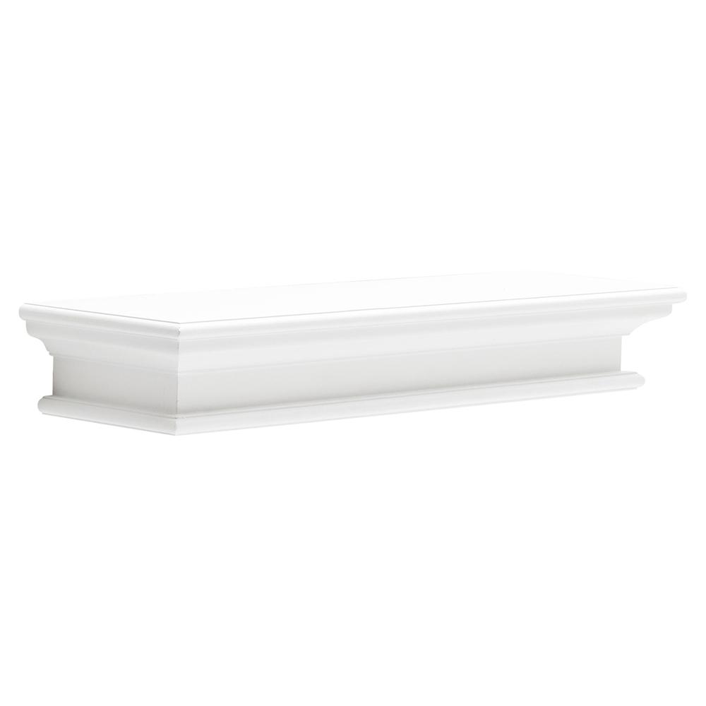 Halifax Floating Long Wall Shelf - Pure White