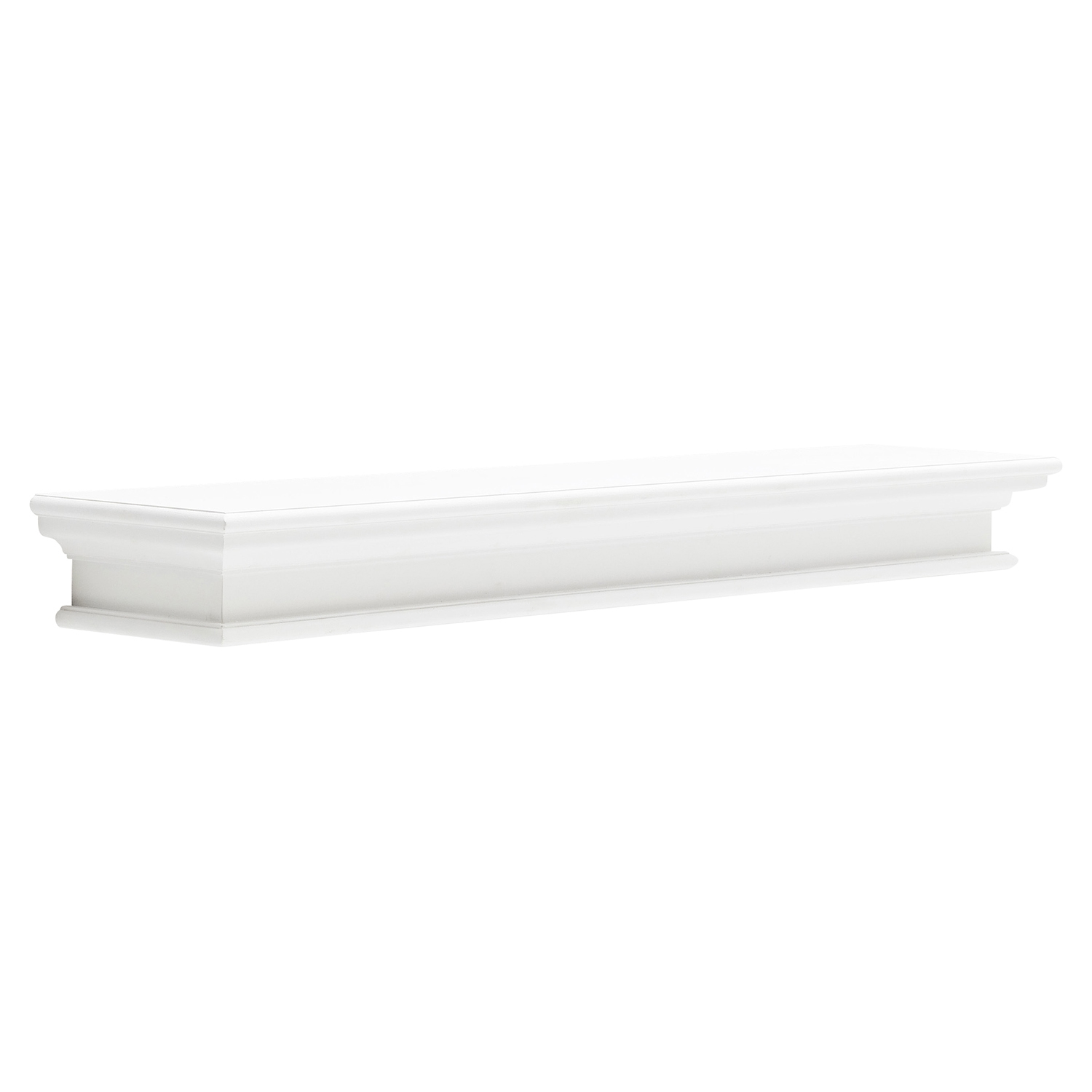 Halifax Floating Extra Long Wall Shelf - Pure White - NSOLO-D166