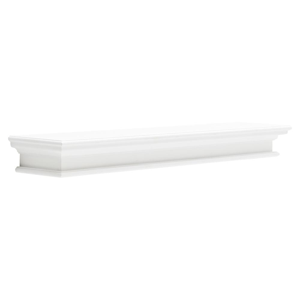 Halifax Floating Extra Long Wall Shelf - Pure White
