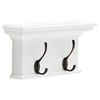 Halifax 2-Hook Coat Rack - Pure White - NSOLO-D167