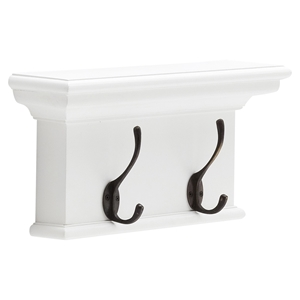 Halifax 2-Hook Coat Rack - Pure White