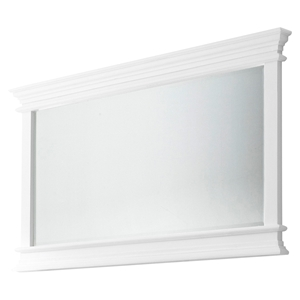 Halifax Landscape Rectangular Mirror - Pure White