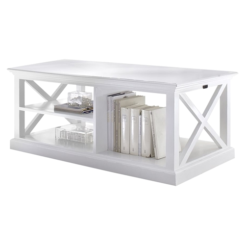 Halifax Rectangular Coffee Table Pure White Dcg Stores