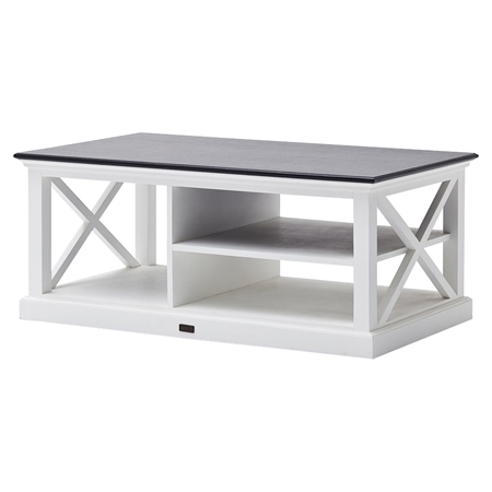Halifax Contrast Rectangular Coffee Table Pure White Dcg Stores