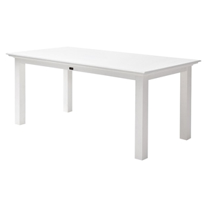 "Halifax 79"" Rectangular Dining Table - Pure White"