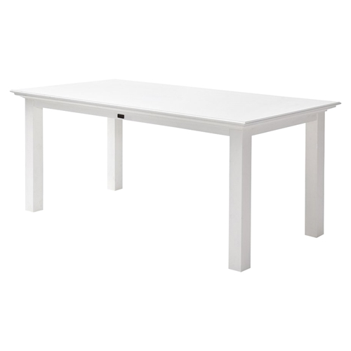 Halifax 79 Rectangular Dining Table Pure White Dcg Stores