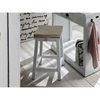 Halifax Kitchen Island and Stools with Cushions - Pure White - NSOLO-T767