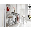 Halifax Backless Stool - Pure White - NSOLO-T767S