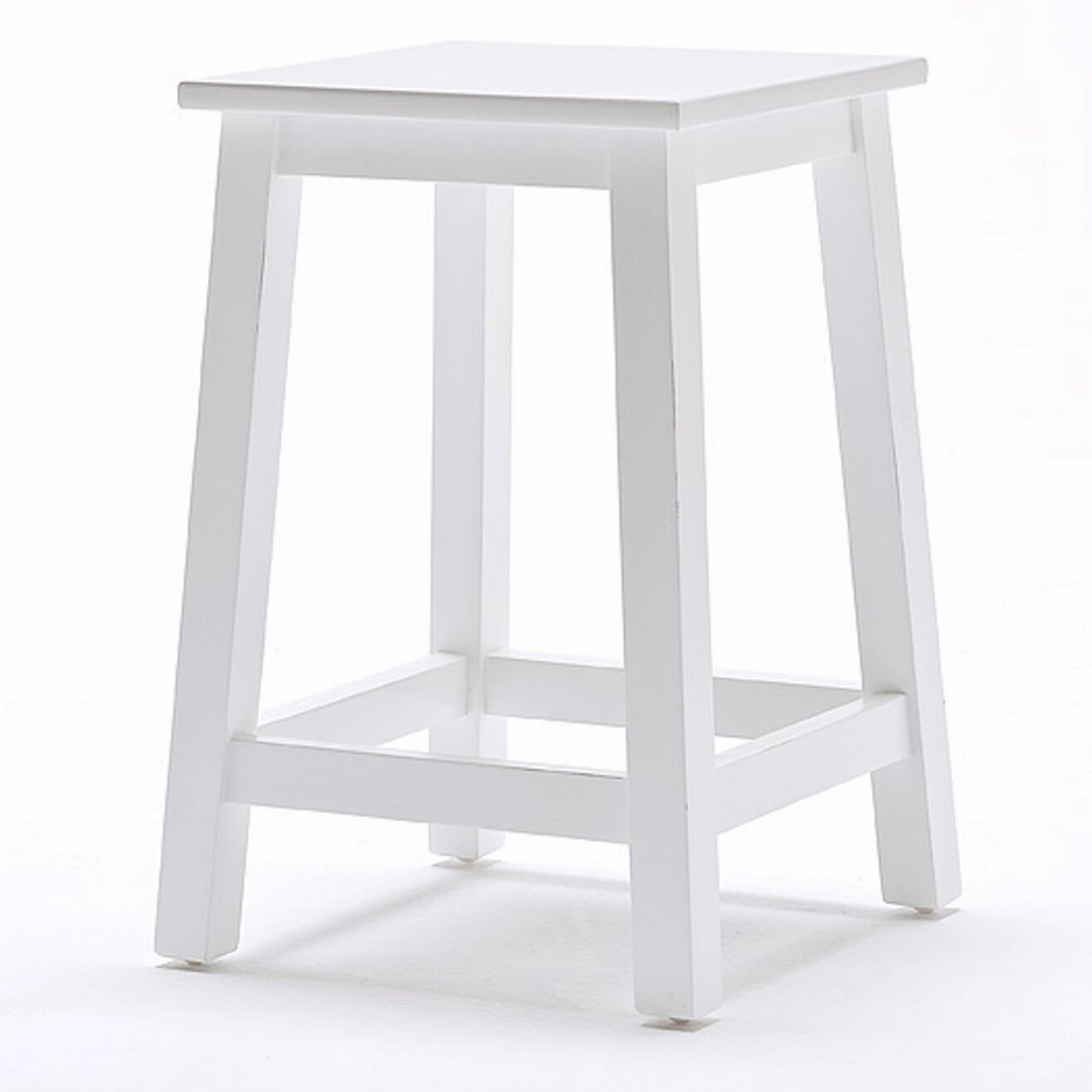 Kitchen Stools Halifax: Halifax Backless Stool - Pure White
