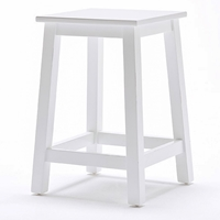 Halifax Backless Stool - Pure White