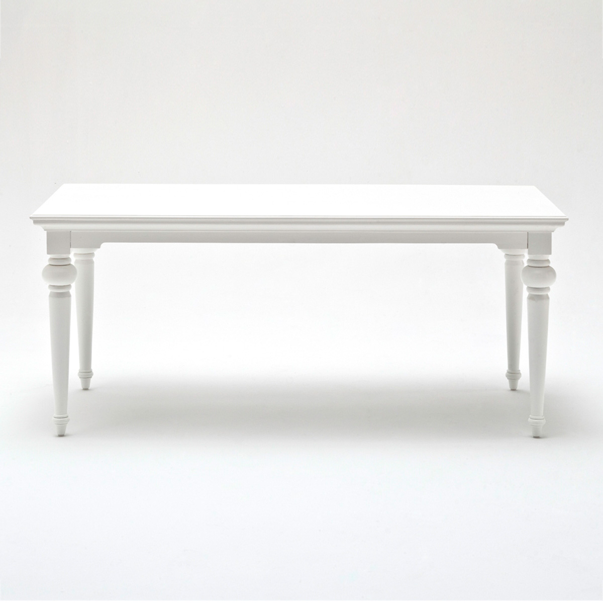 Provence 71 Rectangular Dining Table Pure White Dcg