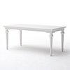 "Provence 79"" Rectangular Dining Table - Pure White - NSOLO-T783"