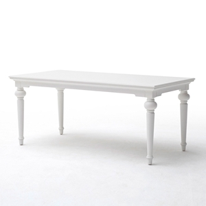"Provence 79"" Rectangular Dining Table - Pure White"