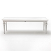 "Provence 94"" Rectangular Dining Table - Pure White - NSOLO-T784"