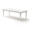 Provence  Rectangular Dining Table Pure White DCG Stores - White rectangular dining table